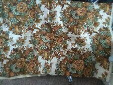 Vintage Quacker Upholstery Fabric / Wicker Floral 3 yds