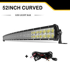 10D Quad-Row 6272W OSRAM 52Inch CURVED LED Light Bar Flood Spot Car Driving 50''