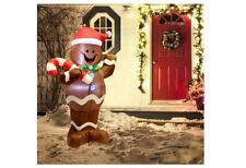 5Ft Inflatable Christmas Gingerbread Candy Cane Outdoor Yard Holiday Decoration