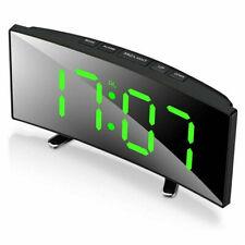 Светодиодный цифровой будильник зеркало дисплей температура повтора стол Usb часы