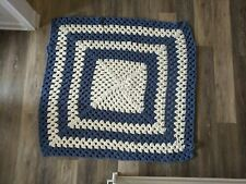 New listing Blue and white baby blanket