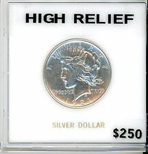 1921 PEACE SILVER DOLLAR BORDERLINE UNCIRCULATED HIGH RELIEF DELUXE HOLDER !