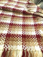 HAND CROCHET Throw Blanket Afghan Lap Fringe