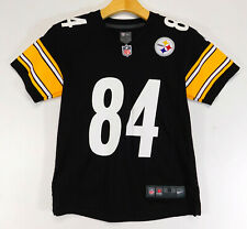 NIKE PITTSBURGH STEELERS Antonio BROWN #84 JERSEY Black NFL Shirt YOUTH SMALL 8