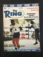 The Ring Boxing Magazine April 1963  Sonny Liston