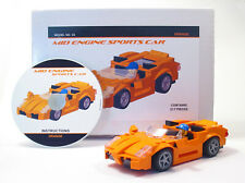 Lego Custom Orange Mid Engine Sports Car Building Set  City Town