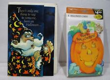 6 Happy Halloween Hallmark Greeting Cards  & 1 Halloween  Birthday Card
