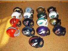 NFL Mini Riddell Football Helmets. Lot of 17