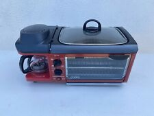 Retro 3-in-1 Countertop Breakfast Station: Griddle, Toaster Oven, Coffee Maker