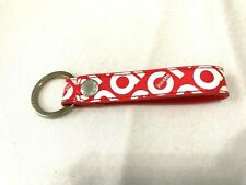 Marc Jacobs Key Chain Loop Keychain Red/White Retro 1980'S Script Font Logo