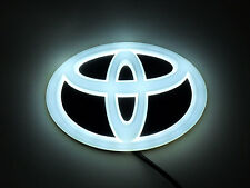 NEW Backlit Chrome &  WHITE LED Oval Badge Emblem Lamp For TOYOTA™ Free Ship