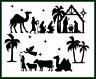 Large Christmas Nativity Scene Set Die Cut Embellishment Crafts Scrapbook