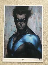 Art Germ Nightwing 11.5 X 16.5 Print Signed