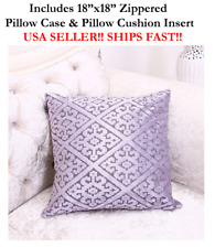 "18x18 18"" LIGHT PURPLE HARLEQUIN DIAMOND Zippered Throw Pillow Cushion Mosaic"