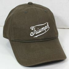 Lucky Brand Triumph Motorcycle Embroidered Logo Brown Baseball Hat Cap Adjustabl