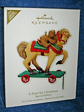 2010 Hallmark Ornaments~A Pony For Christmas~Colorway/Repain t of 12th~Sp Ed~Mib