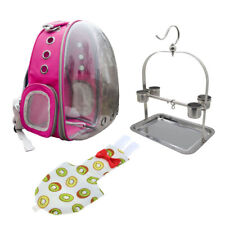 Bird Parrot Carry Bag Rose Red Backpack with Perch & Nappy Reusable Diaper
