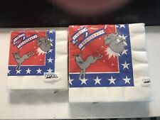 Vintage Vote Democratic Donkey Paper Napkins New In Package