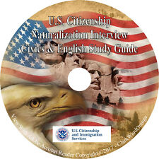 US Citizenship Naturalization Interview Civics & English Citizen Test Study CD