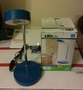 GLOBE HOME DESK LAMP GOOSE NECK 6 W LED FLEXIBLE LASTS 35000 HOURS SOFT WHITE