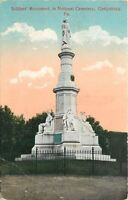 Gettysburg Pennsylvania~Soldiers' Monument in National Cemetery at Sunset 1910