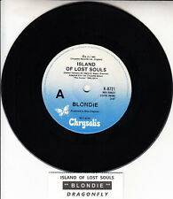 "BLONDIE  Island Of Lost Souls 7"" 45 rpm vinyl record + juke box title strip"