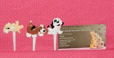 Puppies,Dog,Cupcake Picks,3in.12ct.Bakery Craft,Birthday,Child,Multi-color