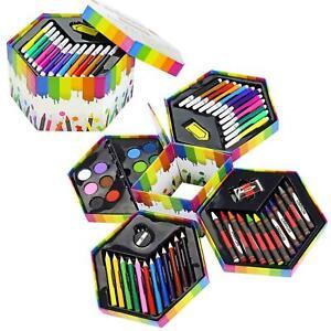 gift  Box Artist Set Deluxe Art Oil Pencils Pens Markers Paints Crayons