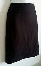 MORRISSEY BROWN SIDE ZIP FITTED WIDE WAISTBAND SHORT PENCIL LINED SKIRT SIZE 6