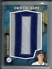Joc Pederson 2016 Topps Own The Name Game Used Jersey Letter Patch #1/1