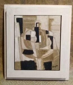 C20TH Cubist Oil, Signed Hayden