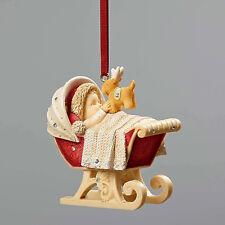 Heart of Christmas Baby's First Ornament  Diaper Dashing Sleigh Crib nib 4052793