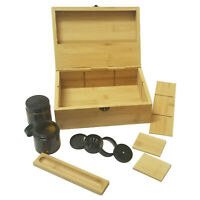 Large Stash Box Combo with Rolling Tray, Stash Jar, Herb Grinder, Bamboo Storage