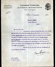 """PARIS (I°) CHAMBRE SYNDICALE de FOURREURS & PELLETIERS """"Léon CASSIER"""" en 1921"""