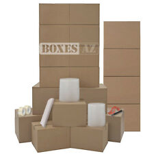 Moving Boxes - 20 HEAVY DUTY Moving Boxes & Packing Supplies Kit - Moving Kit
