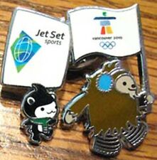 Vancouver '10 OLYMPIC JET SET GUEST Mascots fl rare pin