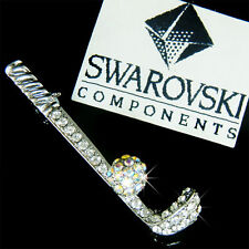 w Swarovski Crystal Rhinestone ~GOLF CLUB BALL set~ Golfer Pin Brooch Xmas Gift