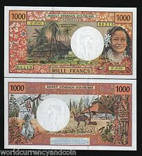 FRENCH PACIFIC TERRITORY 1000 1,000 FRANCS P2 1996 DEER UNC ANIMAL MONEY NOTE