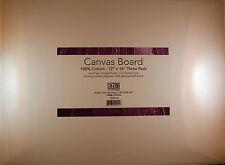 "Art Advantage: 12""x16"" Canvas Board for Oils & Acrylics, 3/Pack"