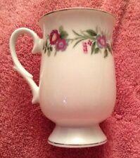 Sheffield Fine China Platinum Jubilee Footed Coffee Tea Cup Mug Floral 12oz