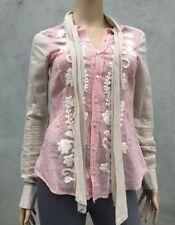 Silk Blend Long Sleeve Floral Tops & Blouses for Women