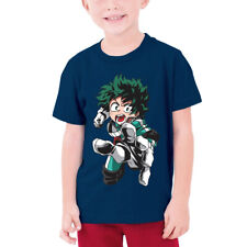 My Hero Academia Deku Smaassh Anime Kids Youth Boy T-Shirt Short Sleeve Tops DIY