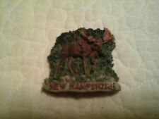 """Collectible New Hampshire Moose Relief Resin Refrigerator Magnet 2.25"""" X 2.25�"""