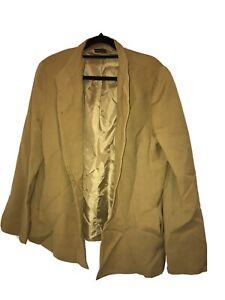 "Stylish  ""CARLA ZAMPATTI""  Gold/ Mustard Blazer Jacket Size 14"