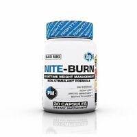 BPI Sports Nite Burn 640 MG in 30 Capsules Weight Loss Night Time Fat Burner New