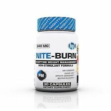 BPI Sports Nite Burn 640 MG in 30 Capsules Weight Loss Night Time Fat Burner New
