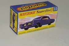 LESNEY/MATCHBOX 'SUPERFAST' NO.22c, PONTIAC GP SPORTS  COUPE REPLICA BOX ONLY