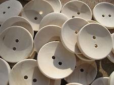10 Stück GROSSE Holz Knopf/Knöpfe  ♥ NATUR HOLZ ♥ 3,50 cm / 35 mm