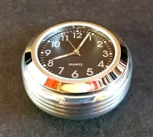 British Made Grooved Enfield Interceptor & Continental Stem Cover & Black Clock