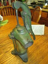 Antique F&W Cast Iron & Brass Kitchen Hand Pump H208 Kendallville IND